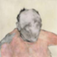 """""""Portrait of a man"""" (paper, mixed media) 18.5x18.5 cm, 715 $"""