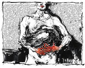 """Goose"" (paper, watercolor) 28x22 cm, $ 410"