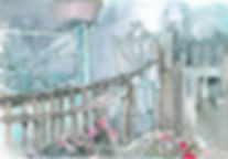 """Gate"" (paper, mixed media) 24x17 cm, 249 $"