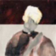 """Portrait of a priest"" (paper, mixed media) 18.5x18.5 cm, 845 $"