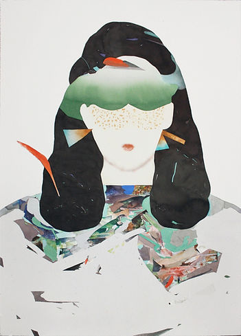 """Woman with green glasses"" (paper, watercolor) 70x50 cm,  1765 $"