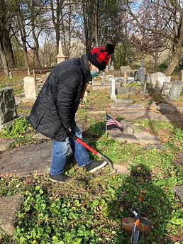 Barbara Garlock headstone preservation 1