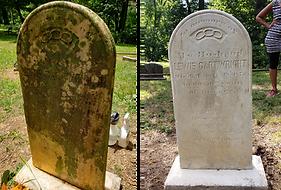Lewis Cartwright headstone restoration B