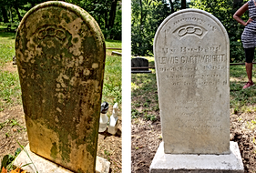 Lewis Cartwright headstone restoration B
