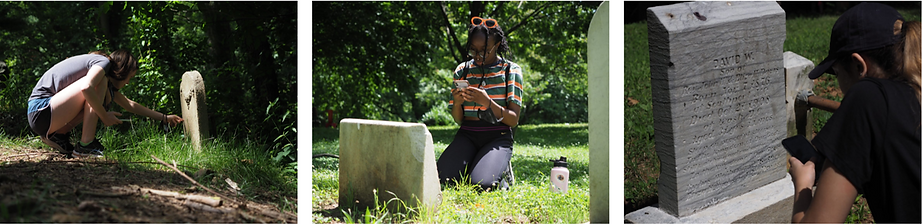 2021 Georgetown University student analyze and record headstone information.png