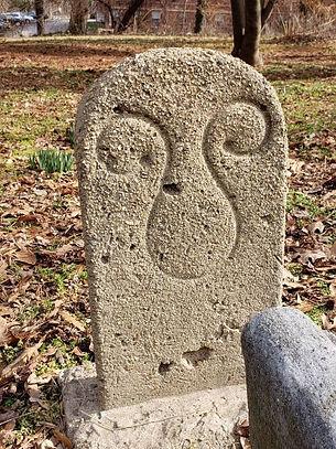 Concrete memorial w Unknown Symbol Old M