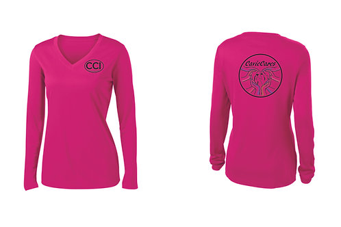 Women's long sleeved v-neck