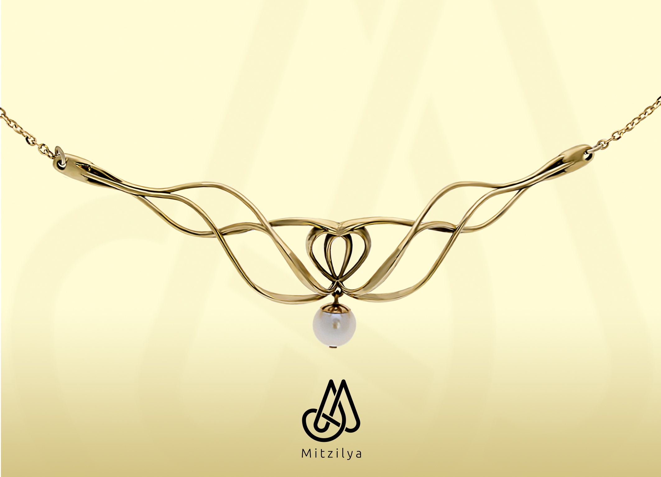Gold Large Pendant FL_P001