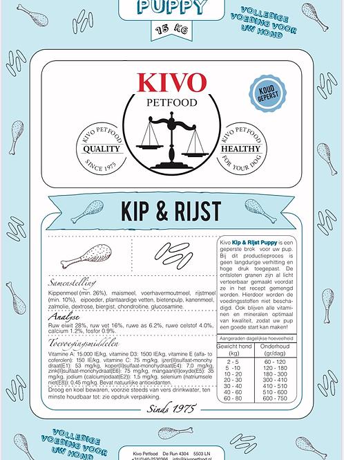 Kivo puppy kip & rijst (geperst)