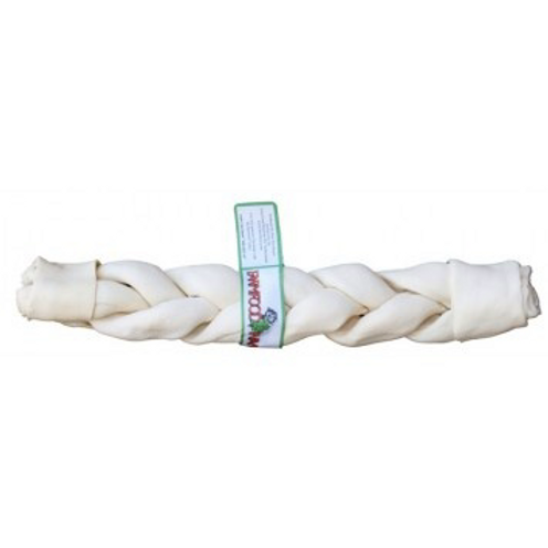 Rawhide dental braided
