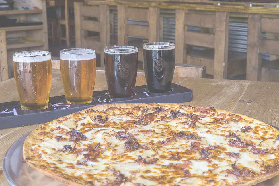 Chicken Bacon Ranch Pizza and Beer
