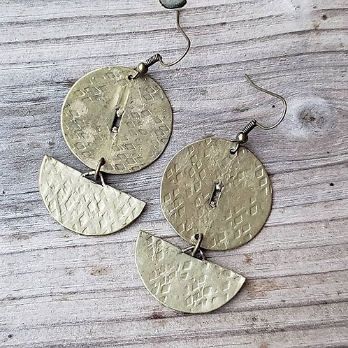 Rustic Brass Coins