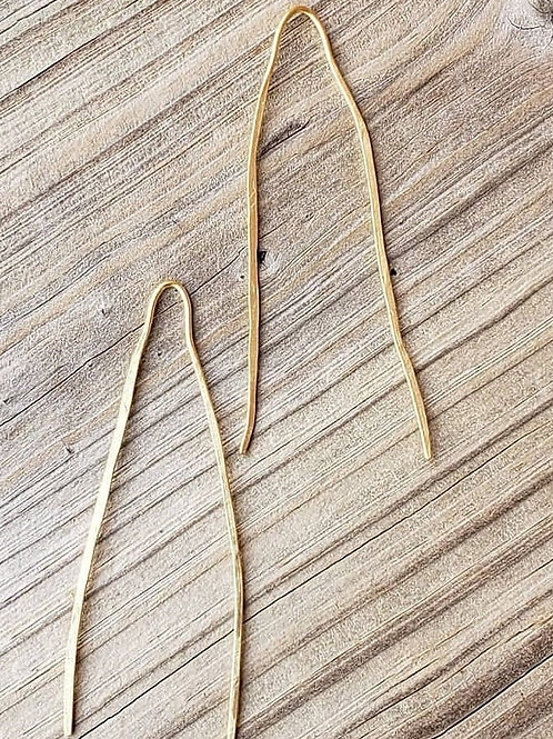 Hammered Hairpin Earrings