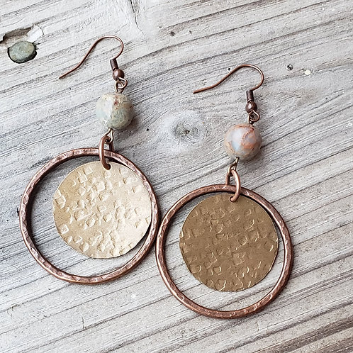 Brass and Copper Hoops