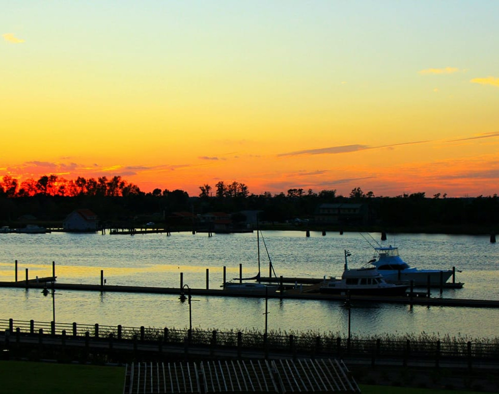 Sunset at Wilmington, North Carolina, USA