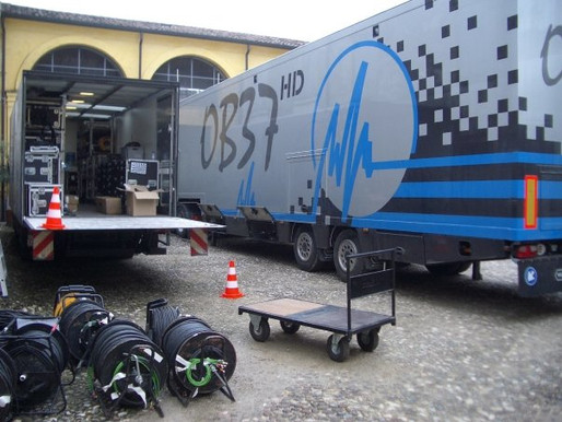 Outside broadcast in Italy