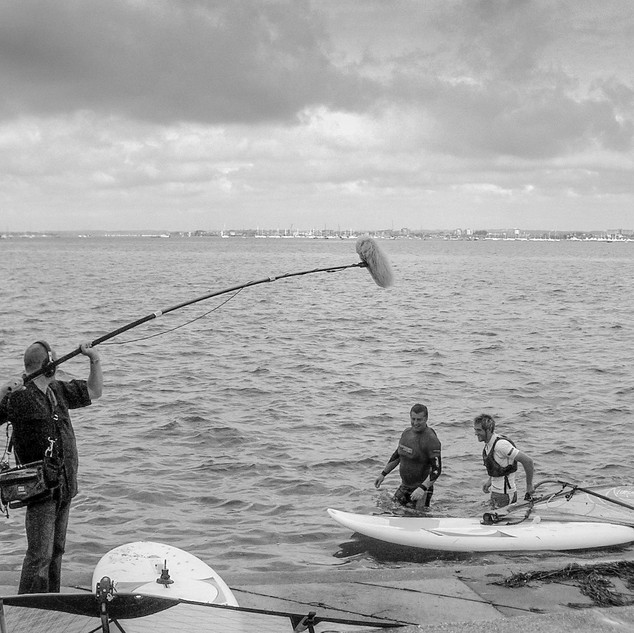 Fully extended boom at Sandbanks, Poole