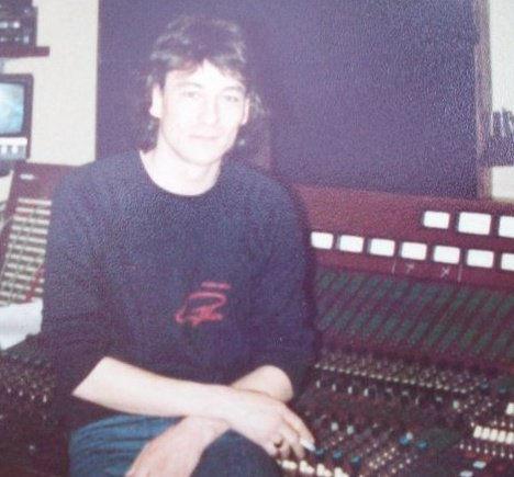 Chas Watkins at mixer, Kingsway Studios, Holborn, London, circa 1983