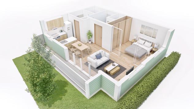 016 Residential project_3D floorplan