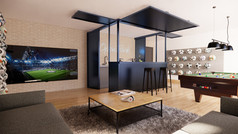 020 Residential interior_Basement 1