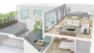 013 Residential in Tokyo_3D floorplan