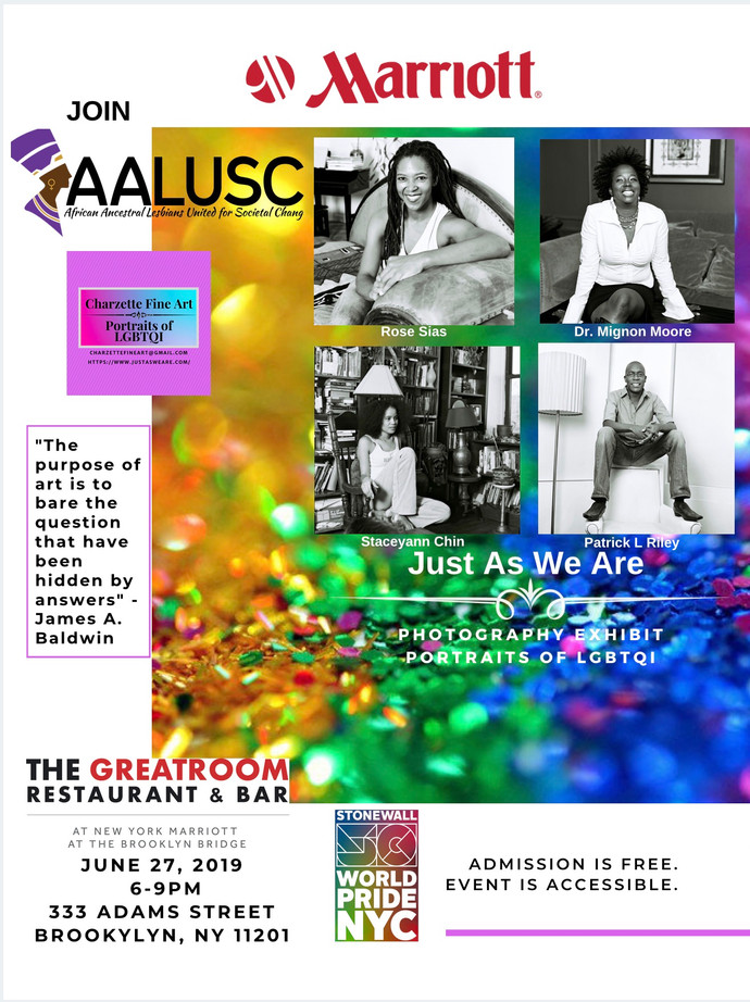 "AALUSC and Marriott Downtown Brooklyn Team Up to Commemorate Stonewall 50 With ""Just As We Are"" Phot"