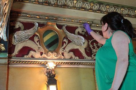 Tests de nettoyage de surface. Théâtre Granada