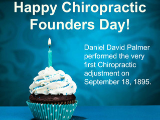 Celebrate with us! It's Chiropractic Founders Day! Daniel David Palmer performed the very first