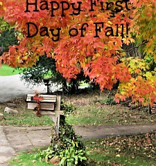 Today is the first day of Autumn!