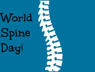 "Today is World Spine Day!We're encouraging people to ""Straighten Up and Move."" It is important to ha"
