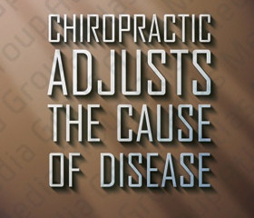 Chiropractic adjusts the cause of disease.