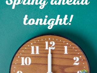 Spring Ahead Tonight!