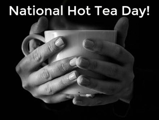 Today is National Tea Day! Enjoy a hot cup while relaxing with a good book.