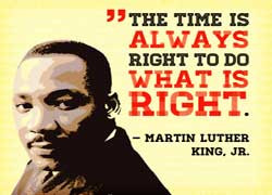 Celebrate Martin Luther King Jr.'s birthday today.