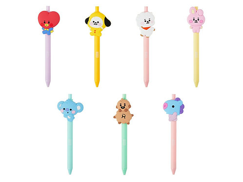 Official BTS BT21 Baby Figure Gel Pen 0.5mm+Freebie+Tracking Authentic MD Kpop