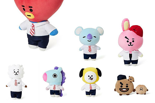 Official BT21 LINEFRIENDS BTS School Look Stand Plush Doll Authentic Goods