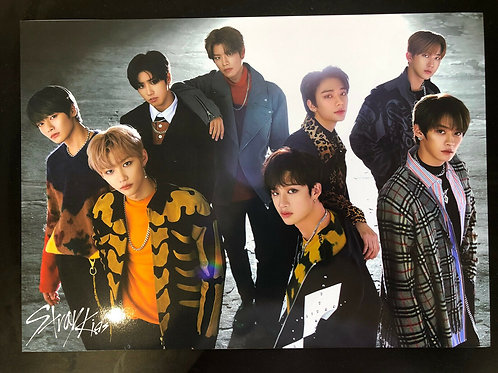 Stray Kids Big Size Posters 12 Sheets and 1 Sheet Sticker Set Free Shipping