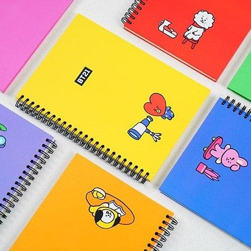 BT21 Spiral Notebook | OFFICIAL MD