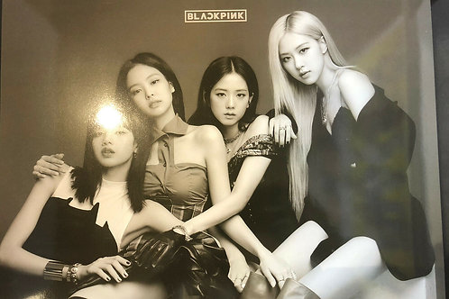 Black Pink Big Size 12 Posters and 1 Sheet Sticker Set Free Shipping