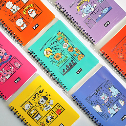 BT21 Epoxy Notebook | OFFICIAL MD