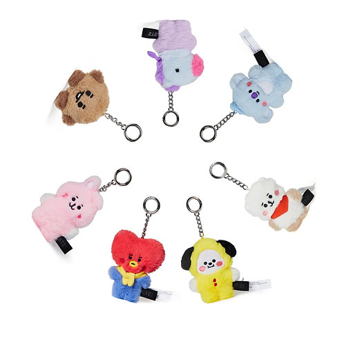 BT21 Baby Flat Fur Keychain | OFFICIAL MD
