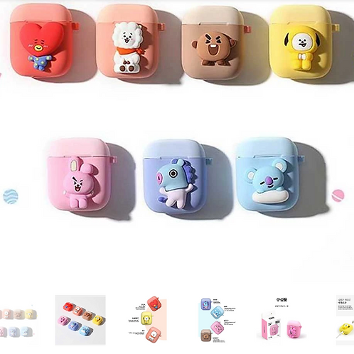 BT21 | TWO-TONE AIRPOD CASE [C-TYPE ] | OFFICIAL MD