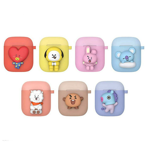 BTS Bangtan Boys Official BT21 Two-Tone Airpods Case (C-Type)