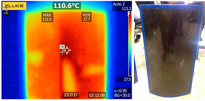 evenly heat  carbon surface of personal infrared heater