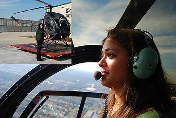 Sarah Jones Reports flying a Chopper