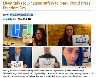 IJNET talks journalism safety with Sarah Jones to mark World Press Freedom Day
