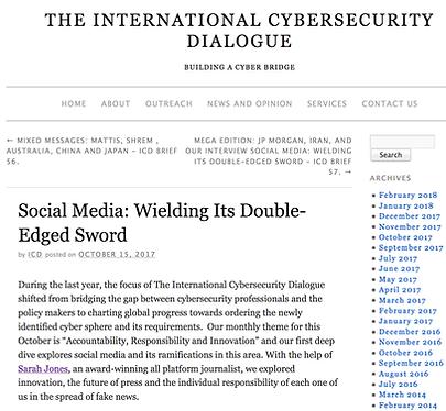 Social Media, Cybersecurity, Sarah Jones