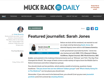 Featured Journalist Sarah Jones
