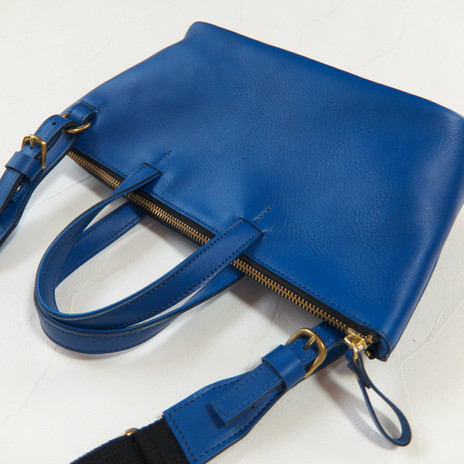 Handy Tote/Shoulder 2 Way Bag  Blue