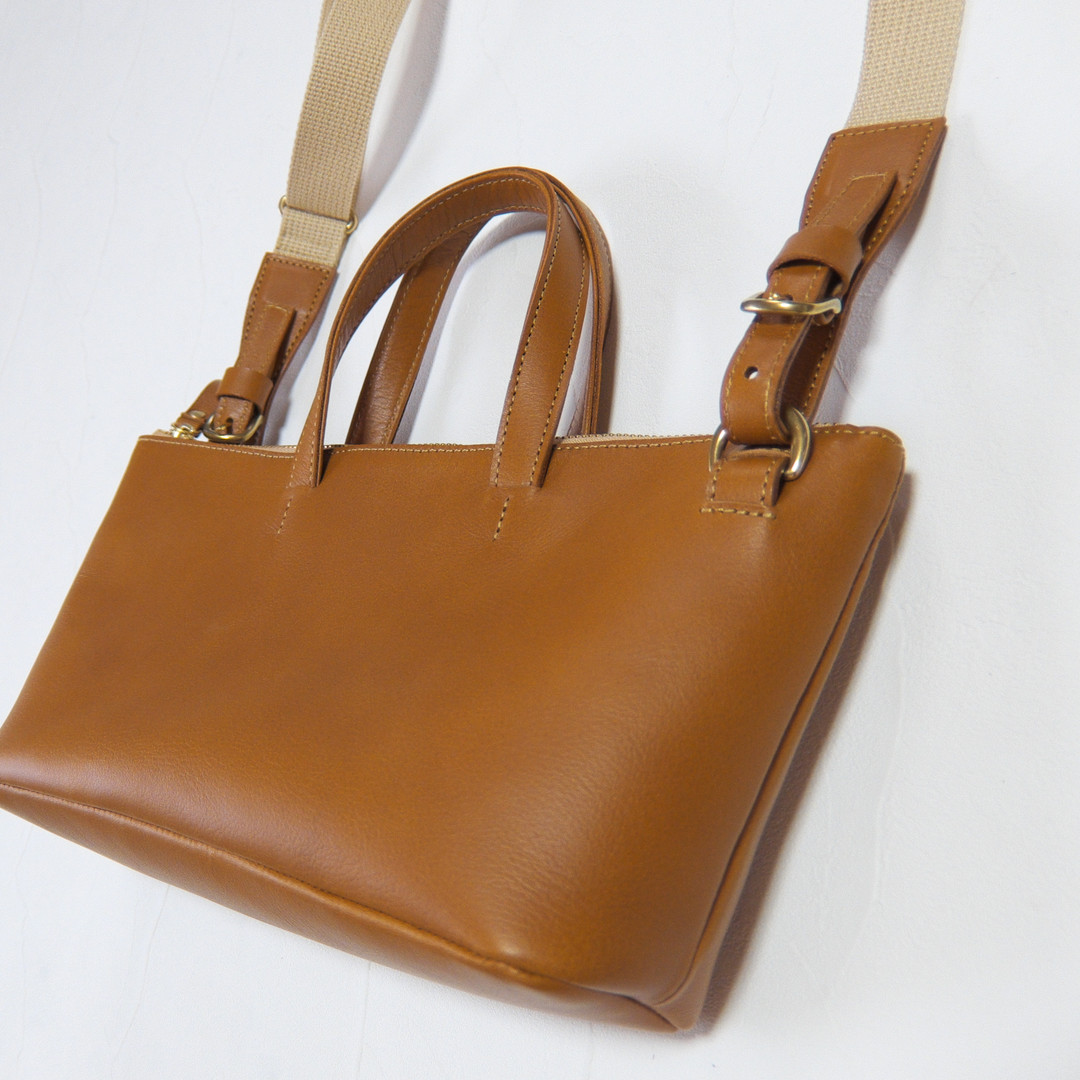 Handy Tote/Shoulder 2 Way Bag  Camel